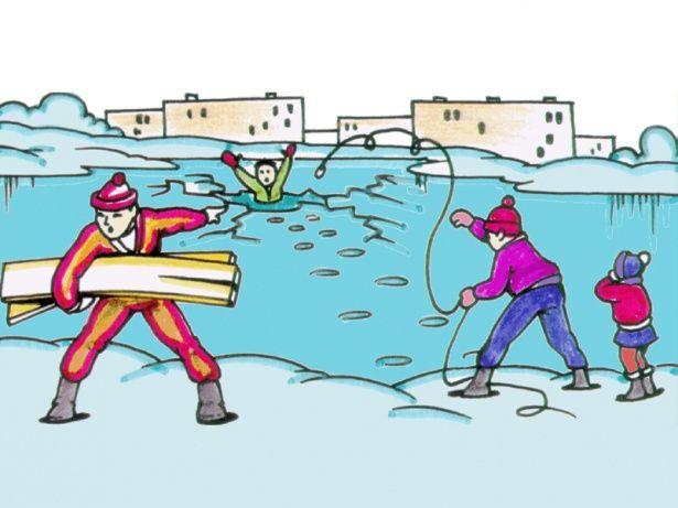 Картинки по мерам безопасности на водоемах зимой
